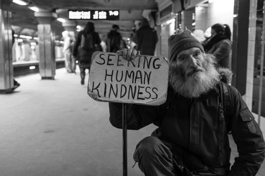 Seeking human kindness smaller